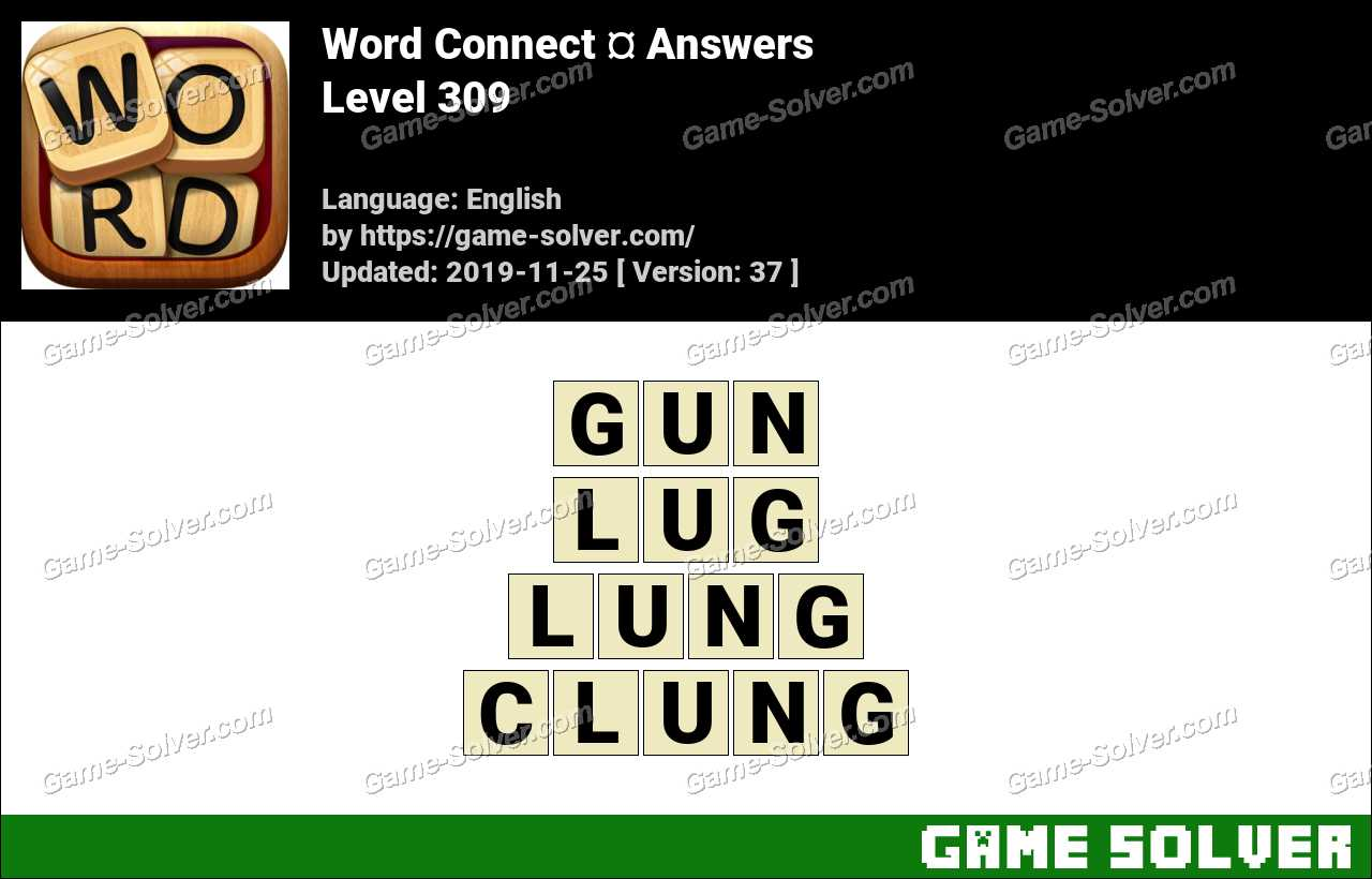 Word Connect Level 309 Answers