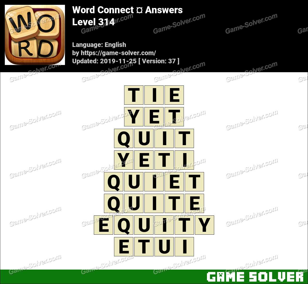Word Connect Level 314 Answers