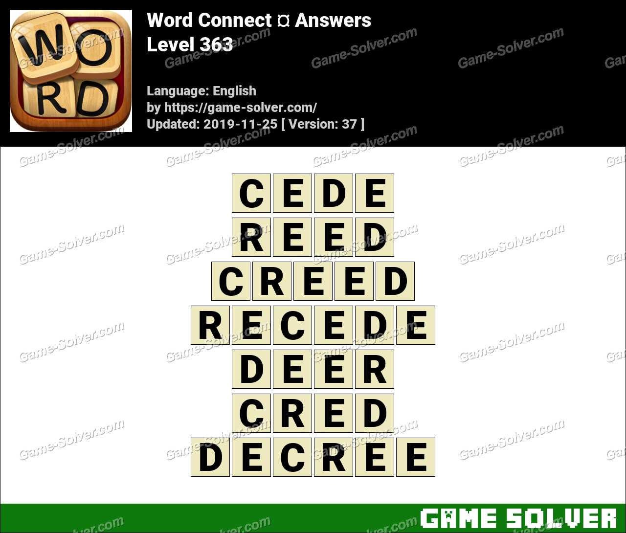 Word Connect Level 363 Answers