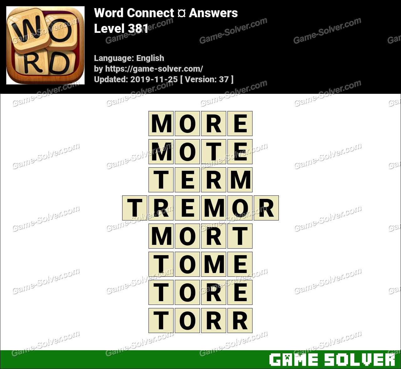 Word Connect Level 381 Answers