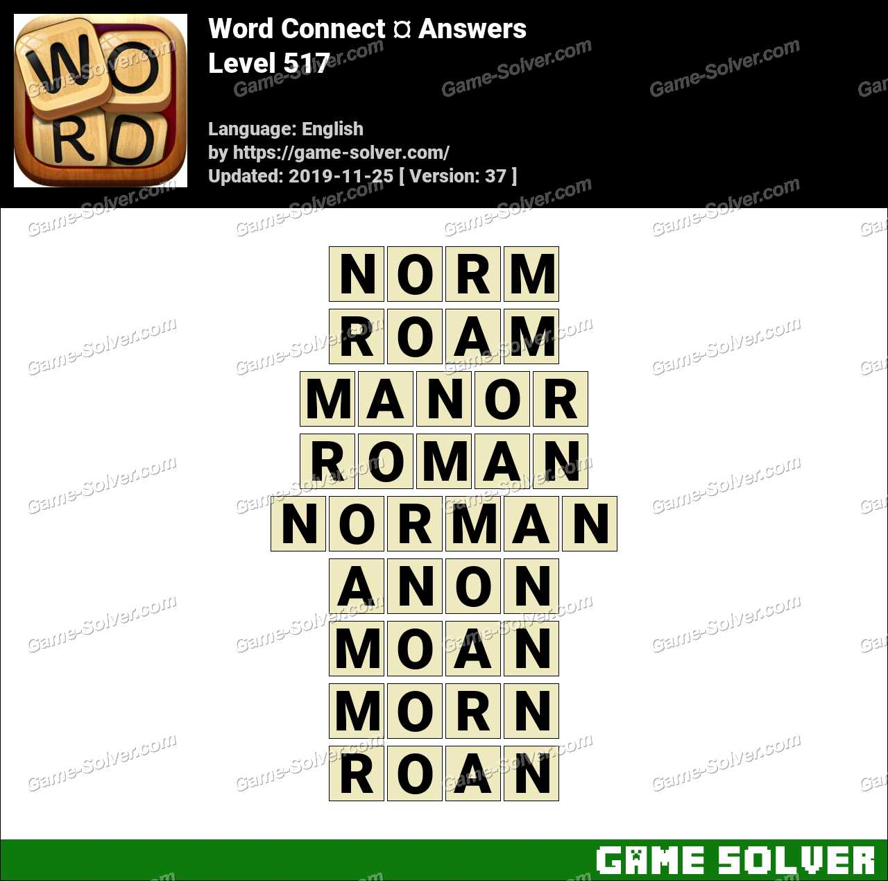 Word Connect Level 517 Answers