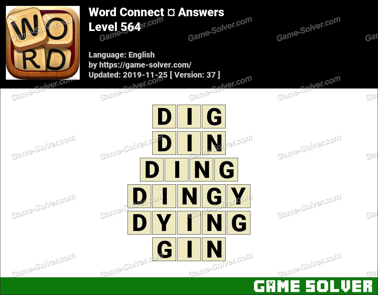 Word Connect Level 564 Answers