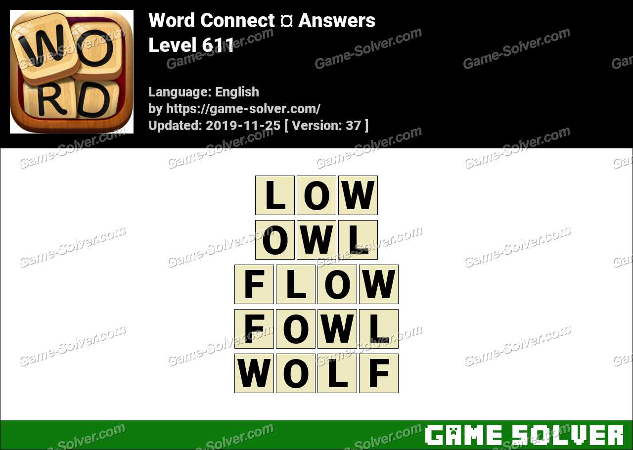 Word Connect Level 611 Answers