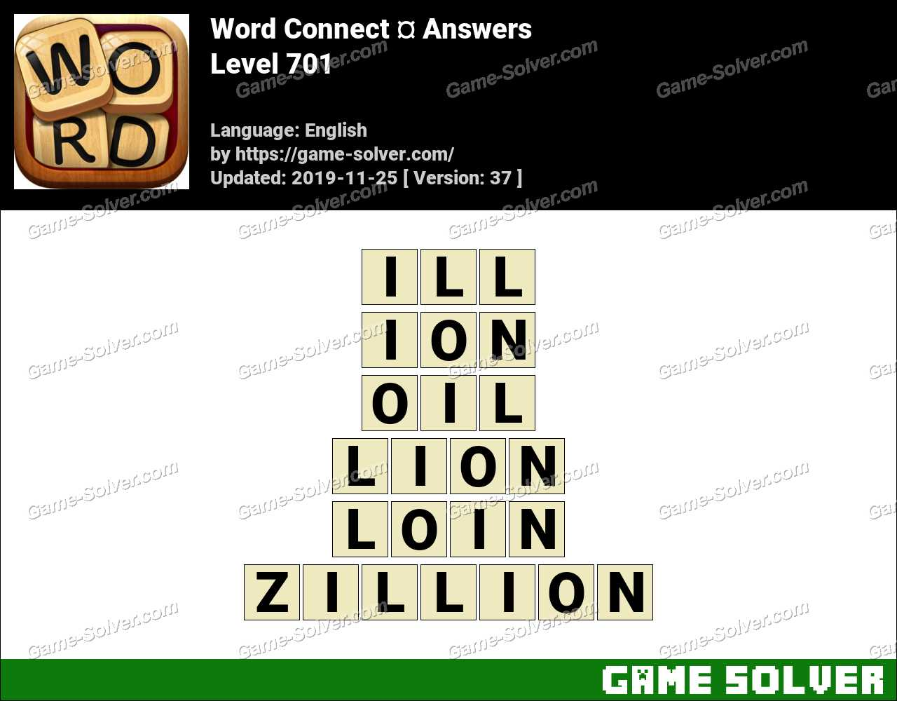 Word Connect Level 701 Answers