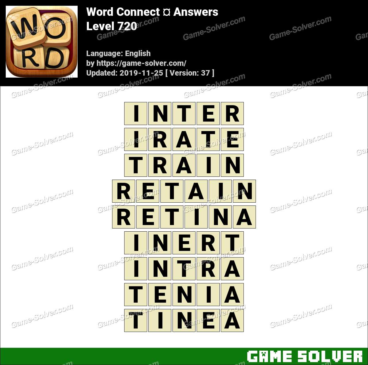 Word Connect Level 720 Answers