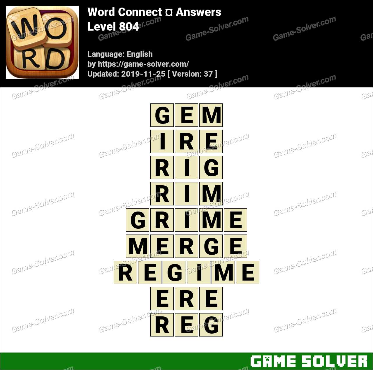 Word Connect Level 804 Answers