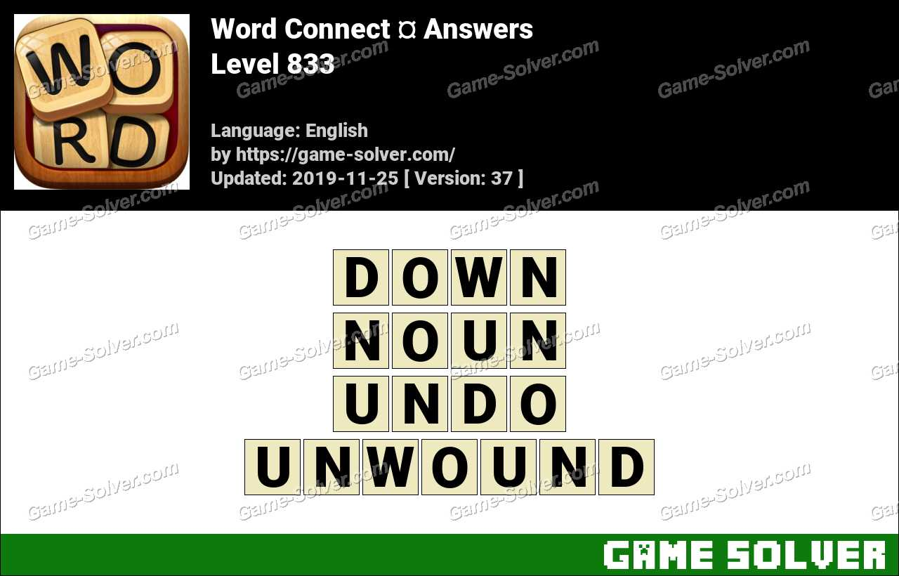 Word Connect Level 833 Answers