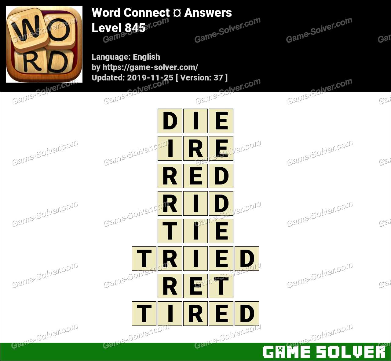Word Connect Level 845 Answers