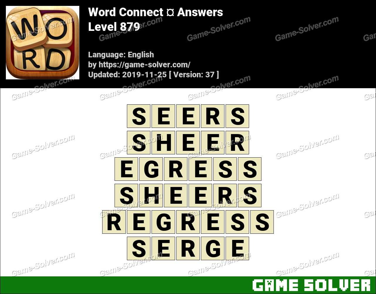 Word Connect Level 879 Answers