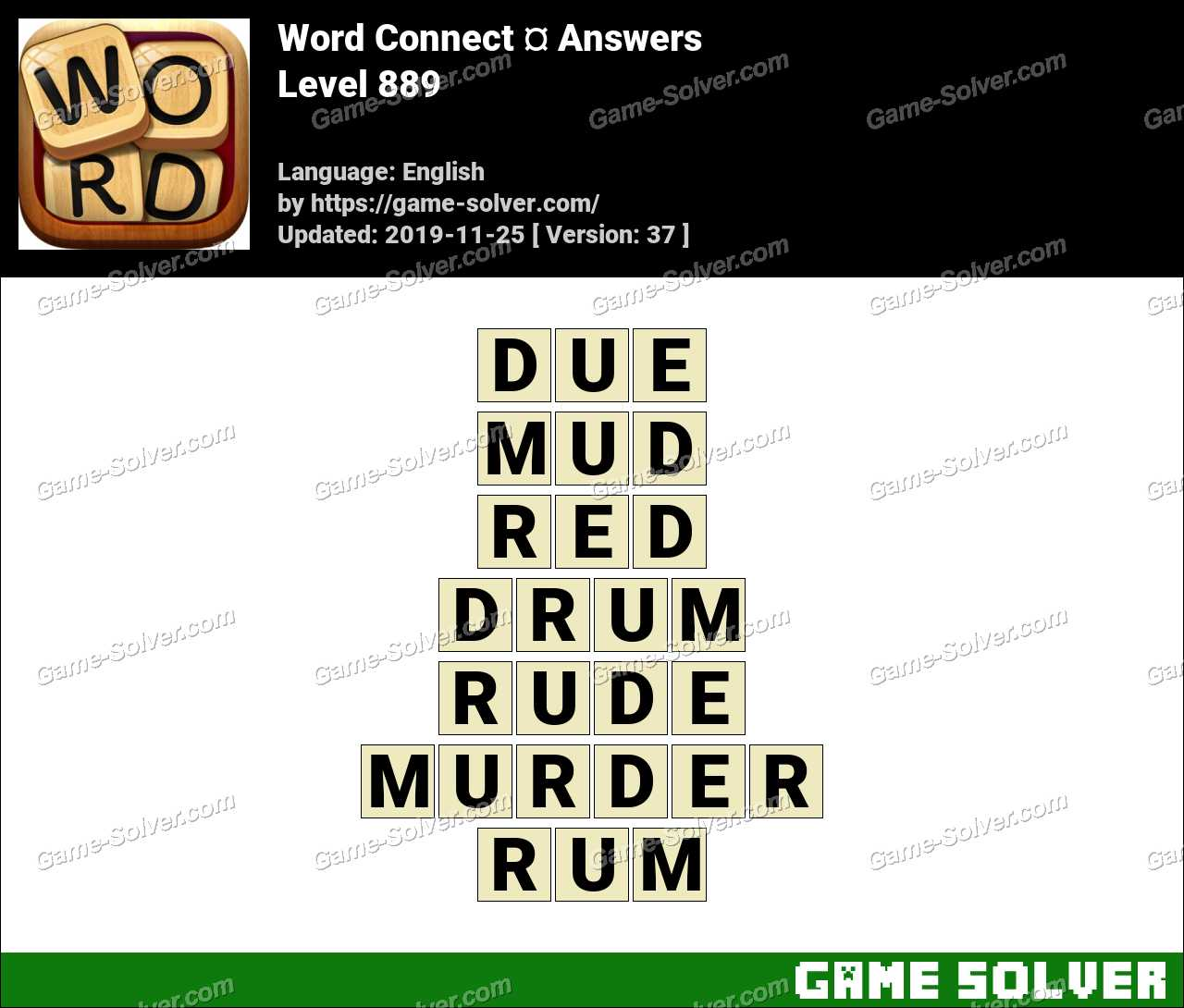 Word Connect Level 889 Answers