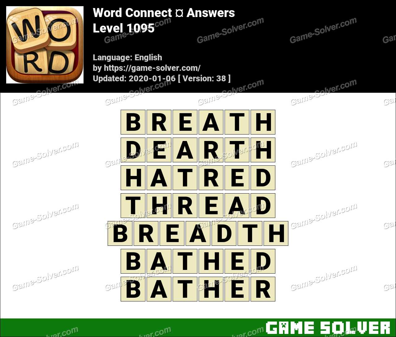 Word Connect Level 1095 Answers