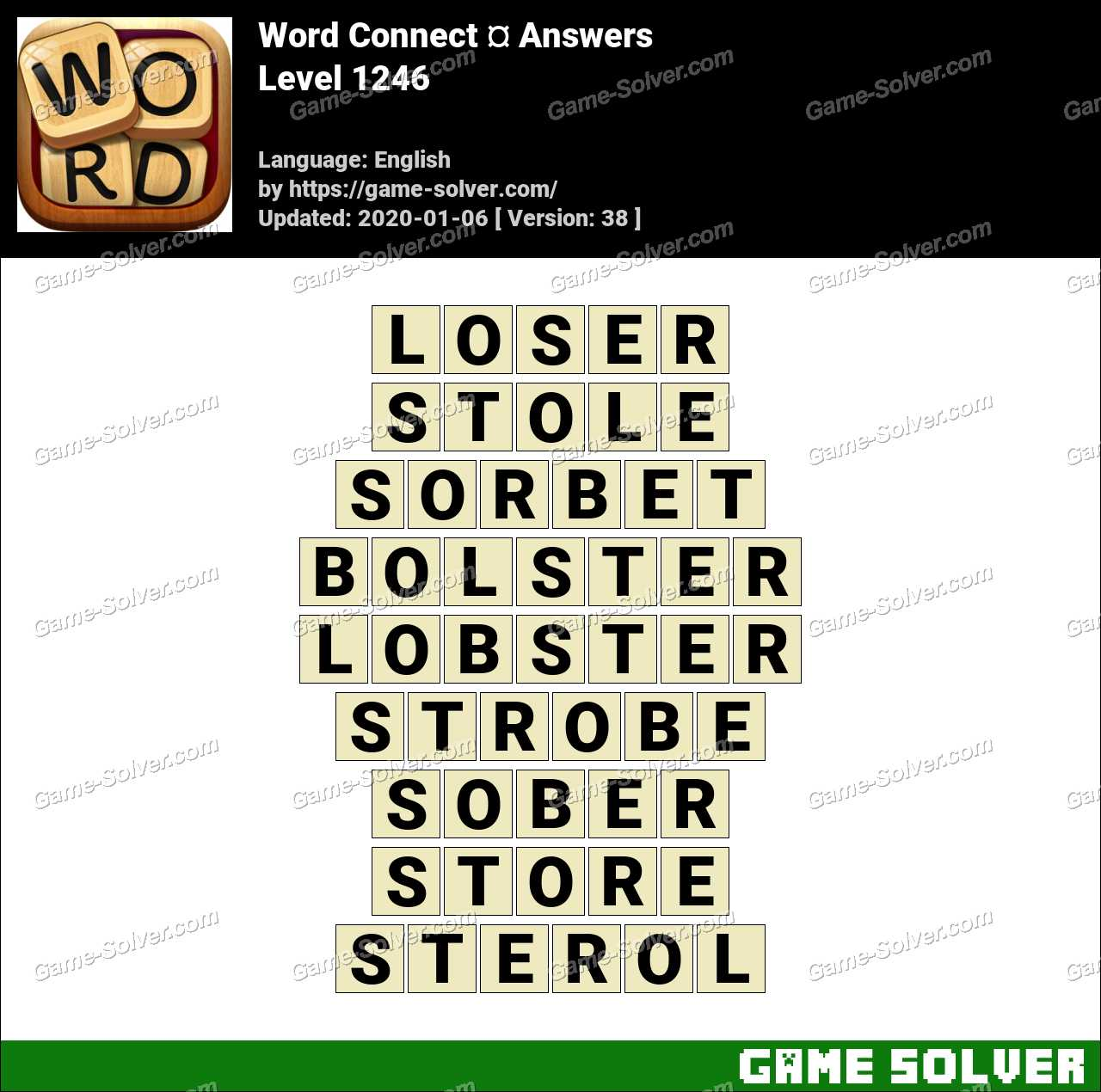 Word Connect Level 1246 Answers