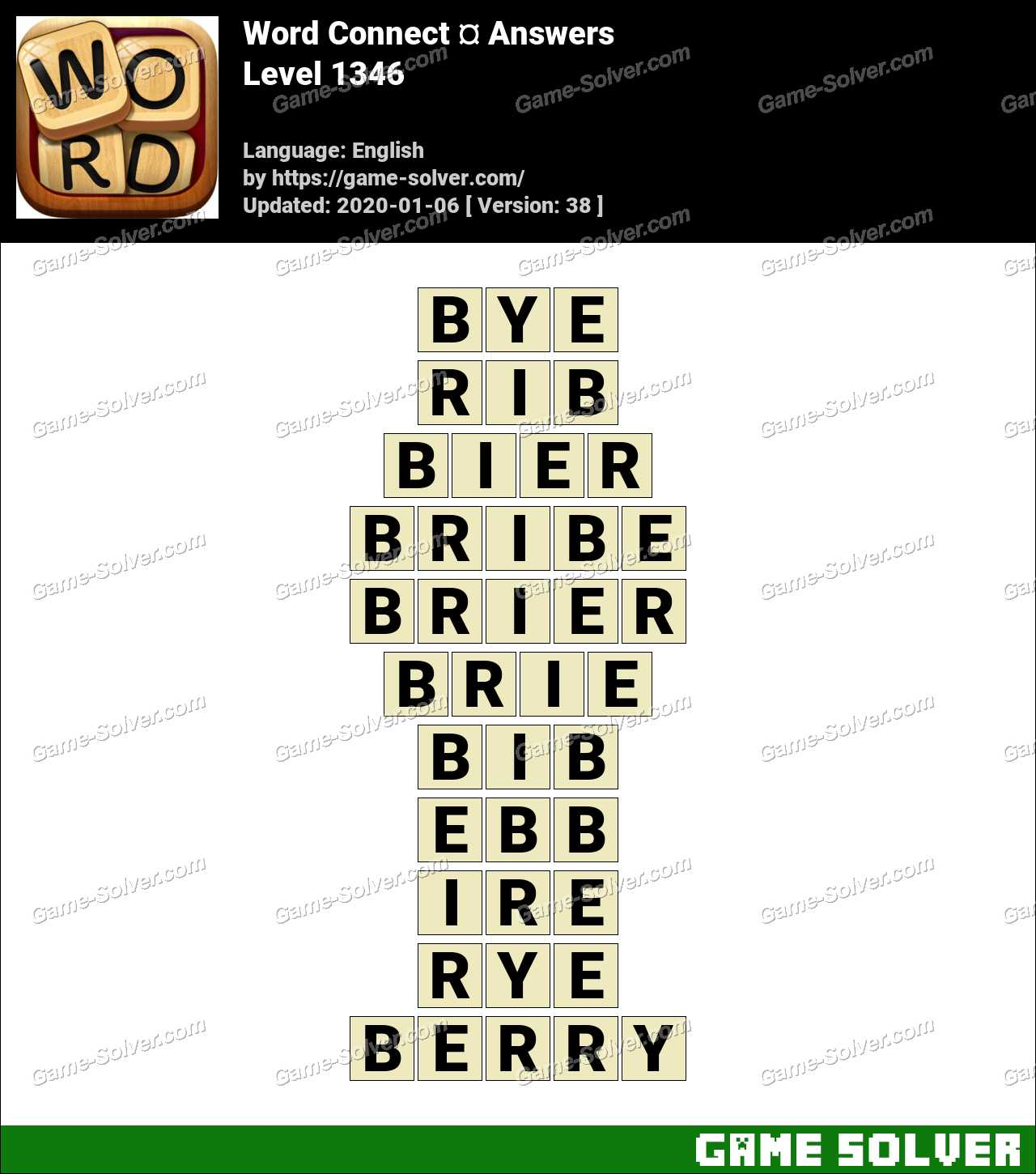 Word Connect Level 1346 Answers