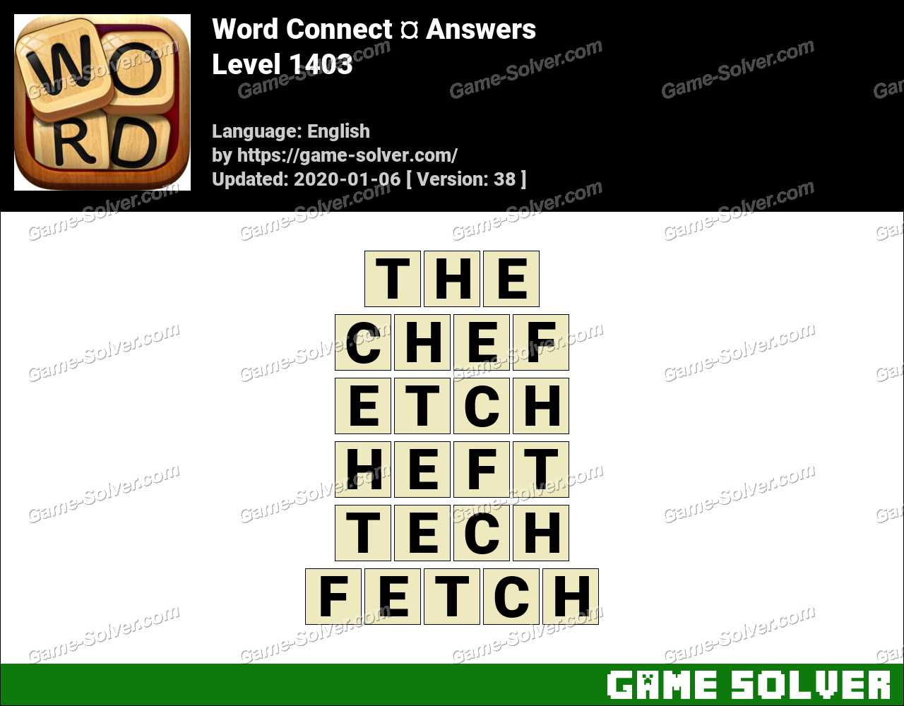 Word Connect Level 1403 Answers