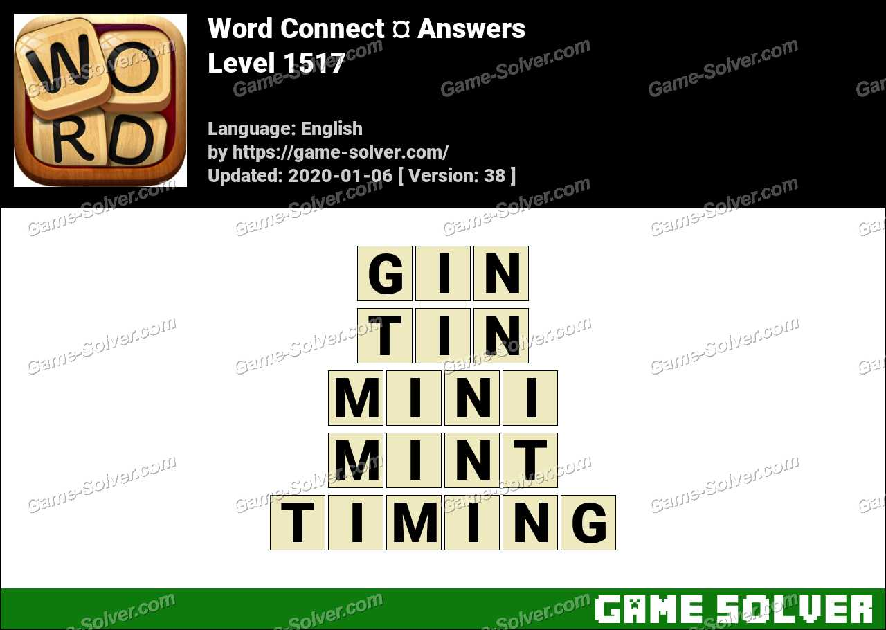 Word Connect Level 1517 Answers