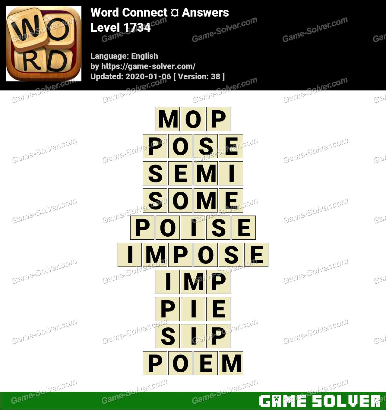 Word Connect Level 1734 Answers