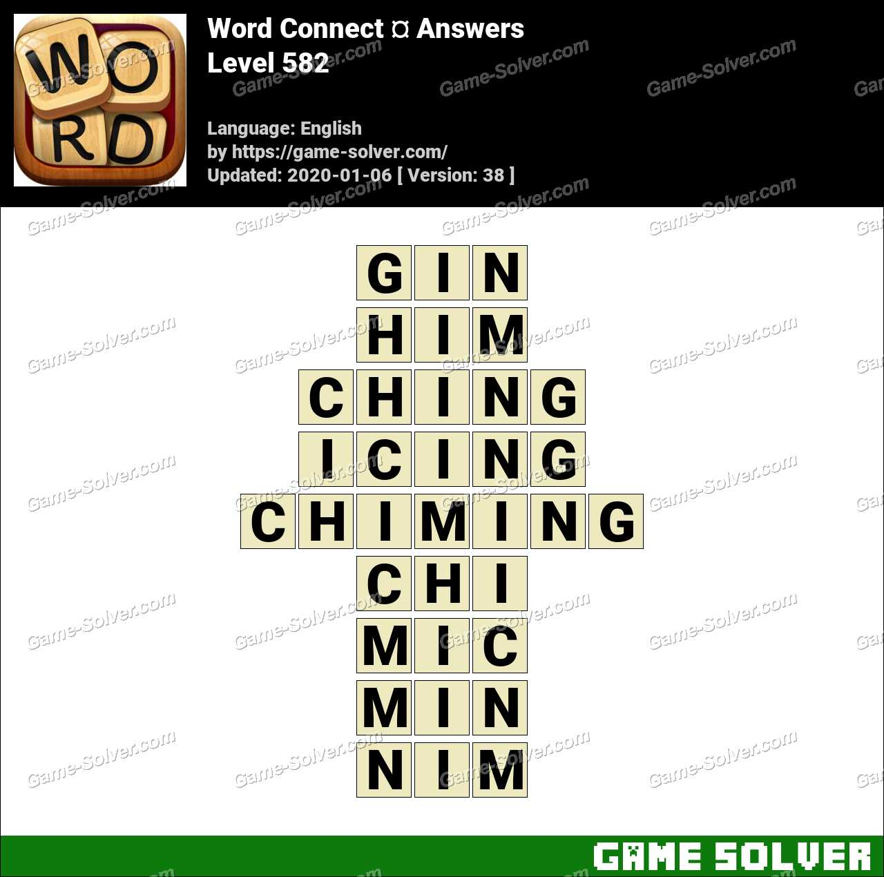 Word Connect Level 582 Answers