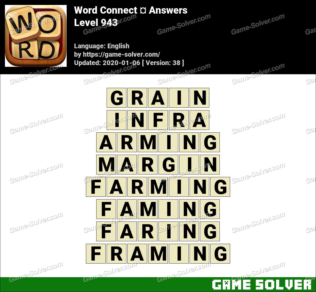 Word Connect Level 943 Answers