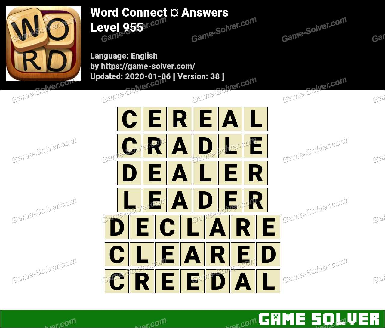 Word Connect Level 955 Answers