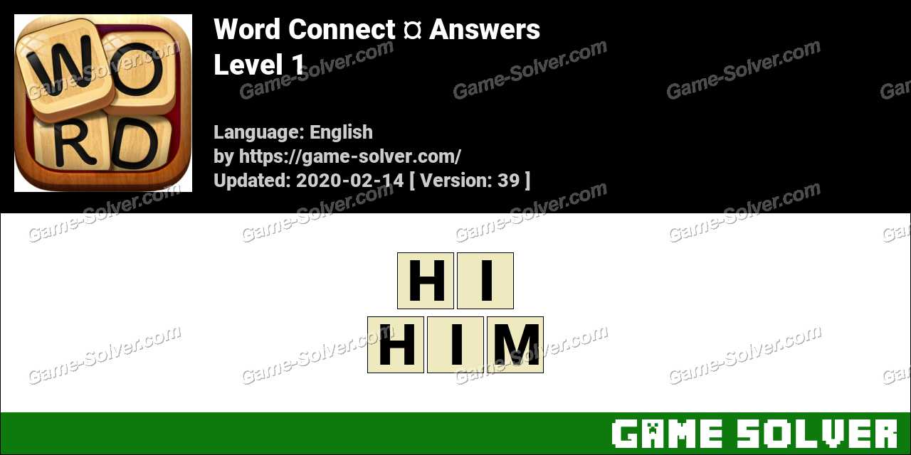 Word Connect Level 1 Answers