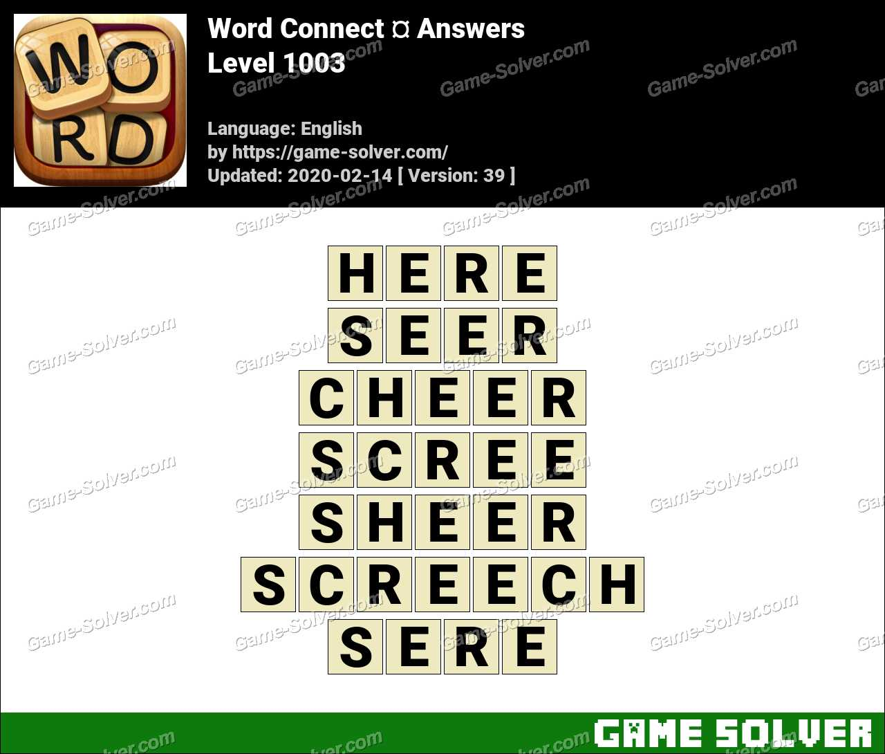 Word Connect Level 1003 Answers