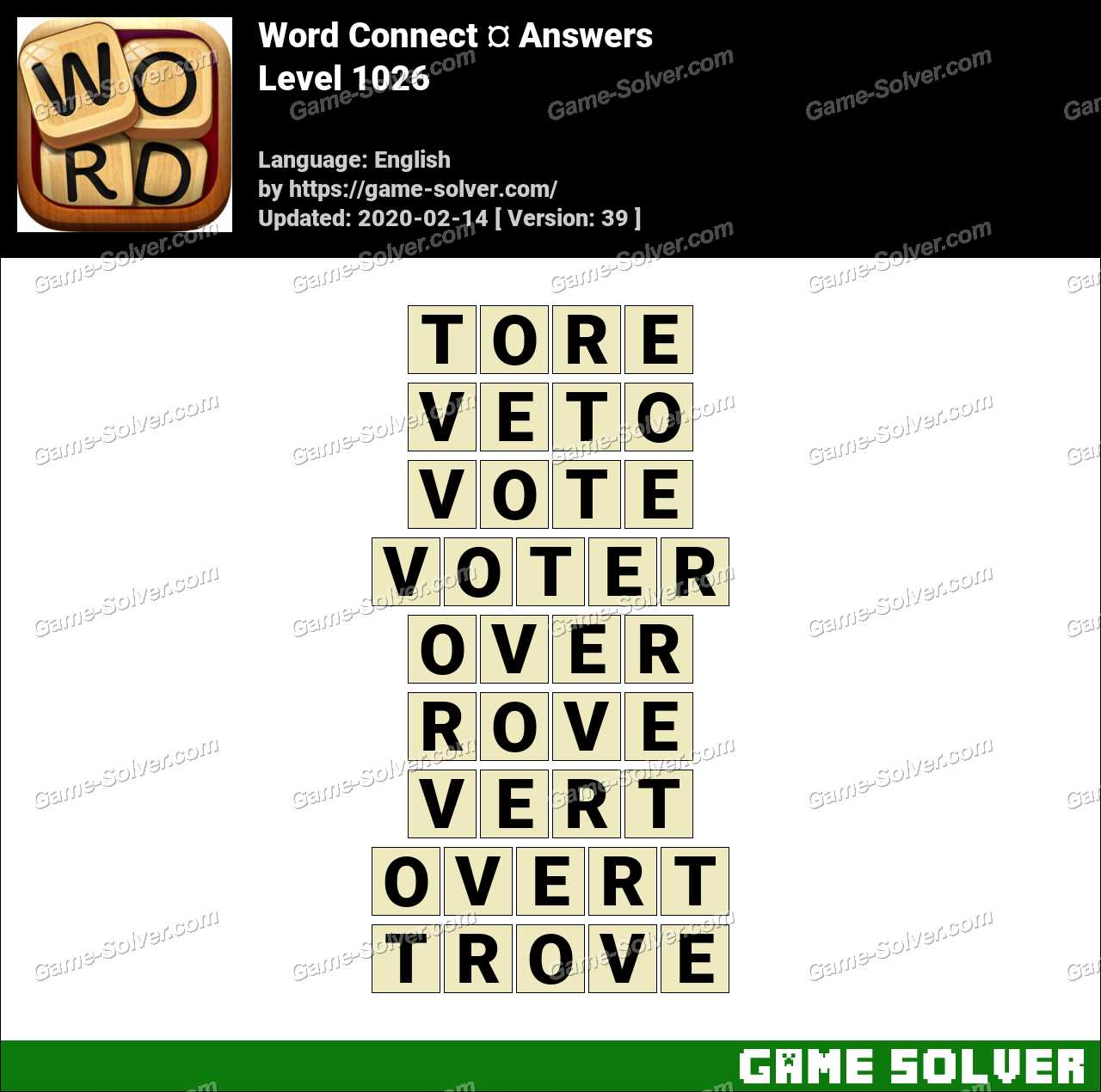 Word Connect Level 1026 Answers