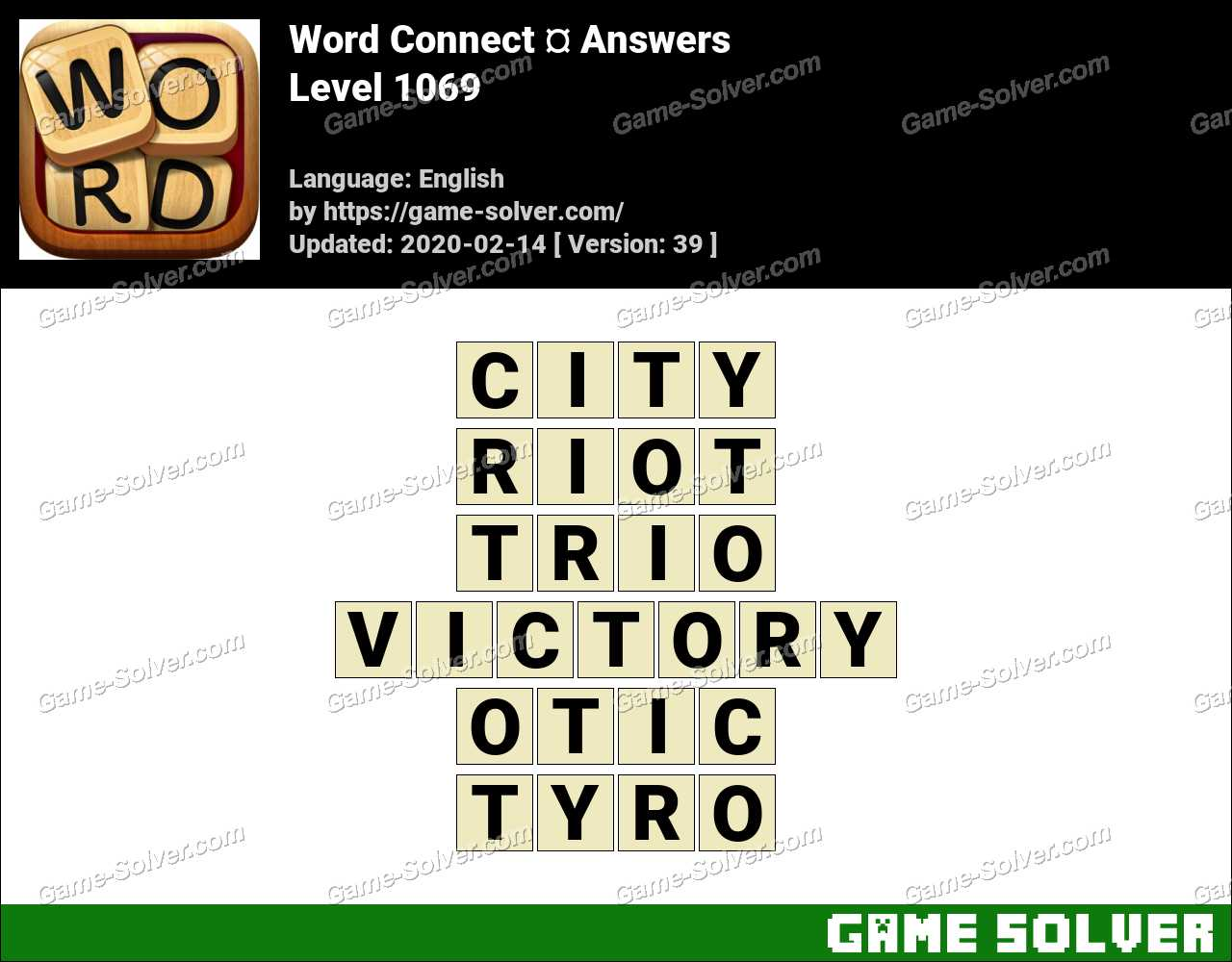 Word Connect Level 1069 Answers