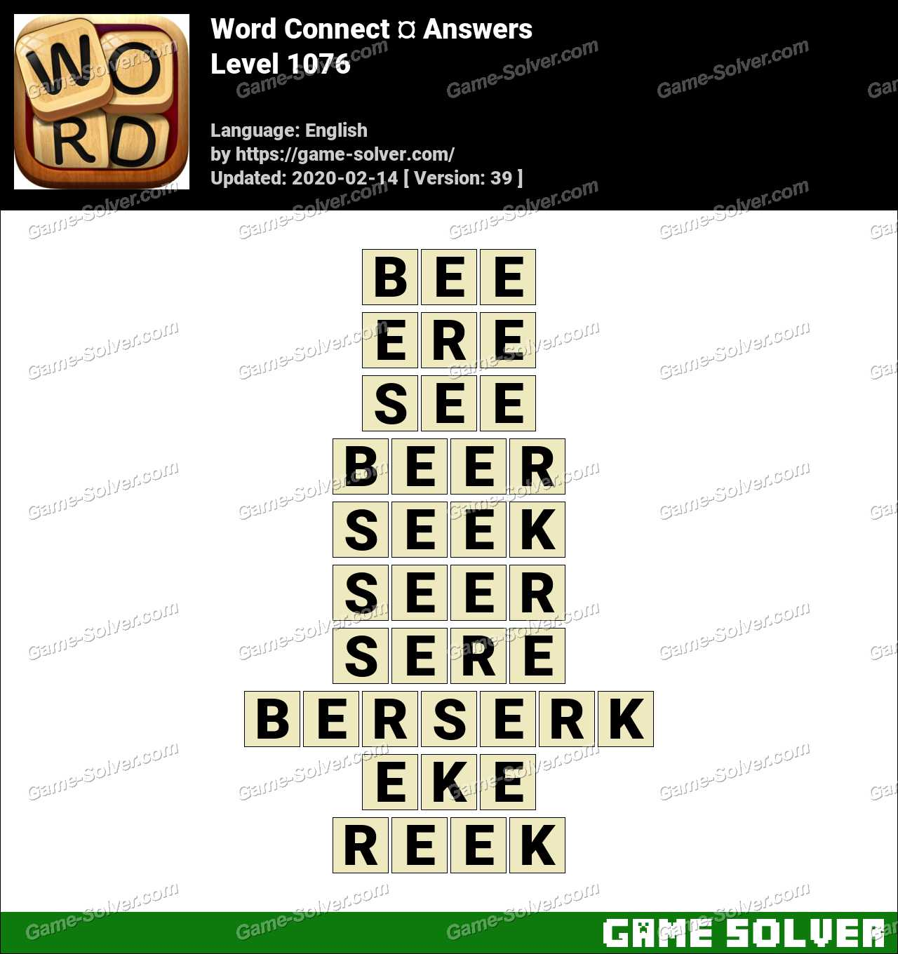 Word Connect Level 1076 Answers
