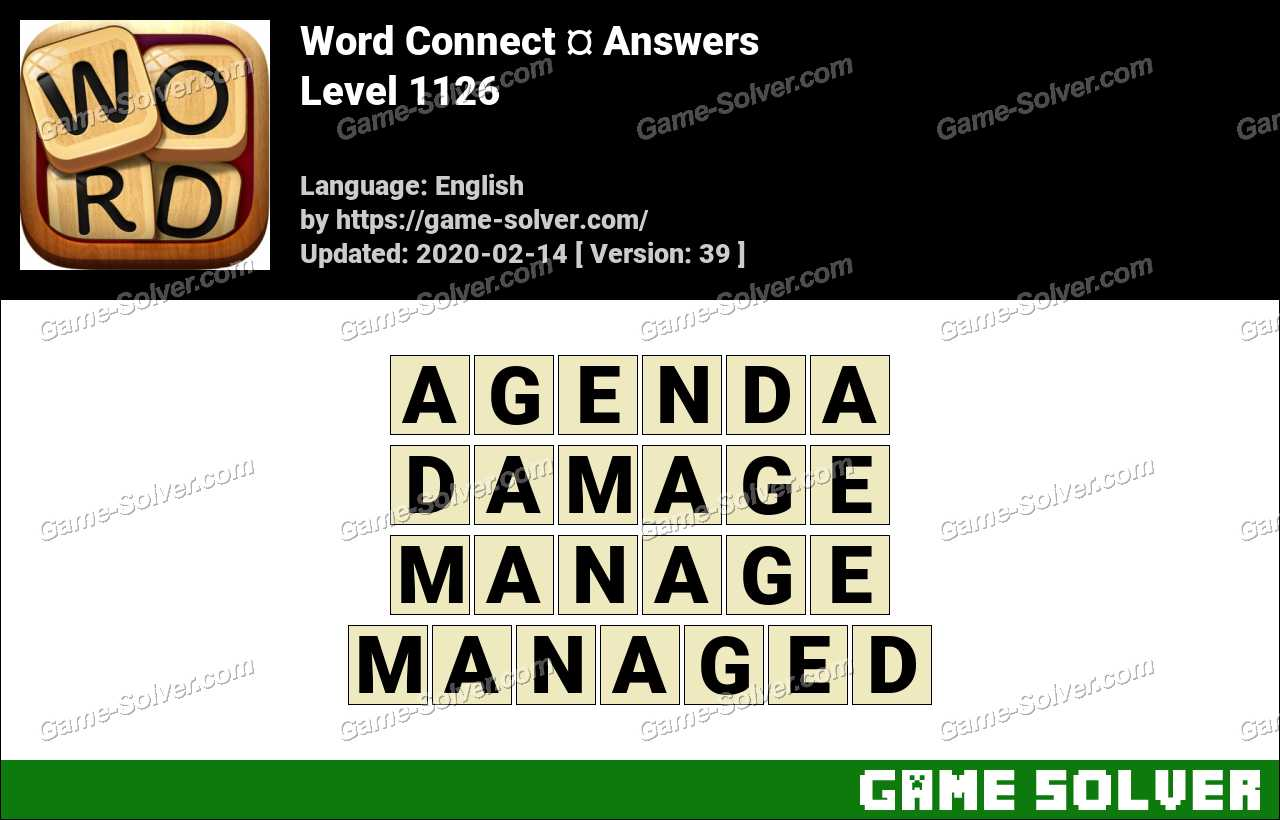 Word Connect Level 1126 Answers