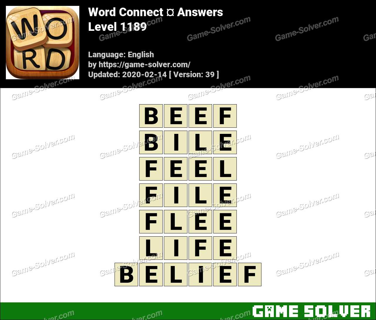 Word Connect Level 1189 Answers