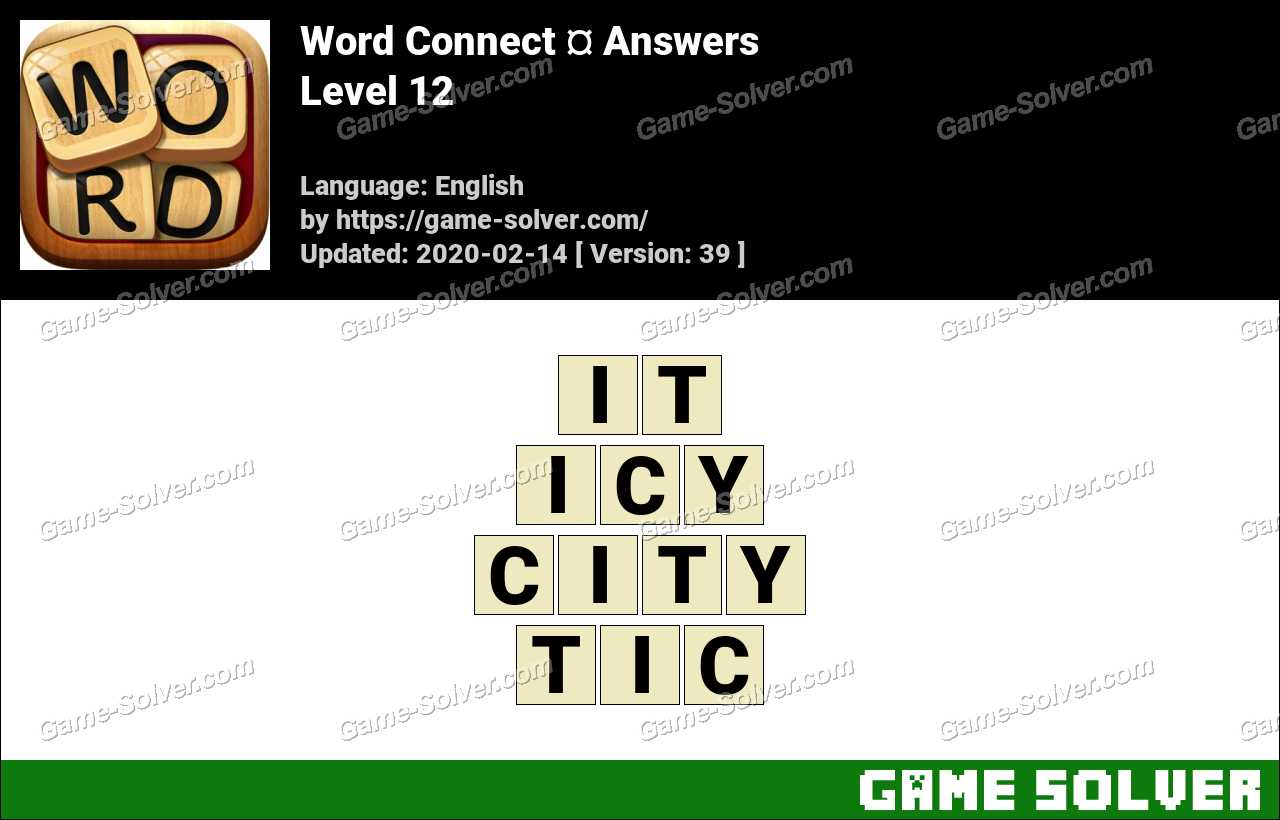 Word Connect Level 12 Answers