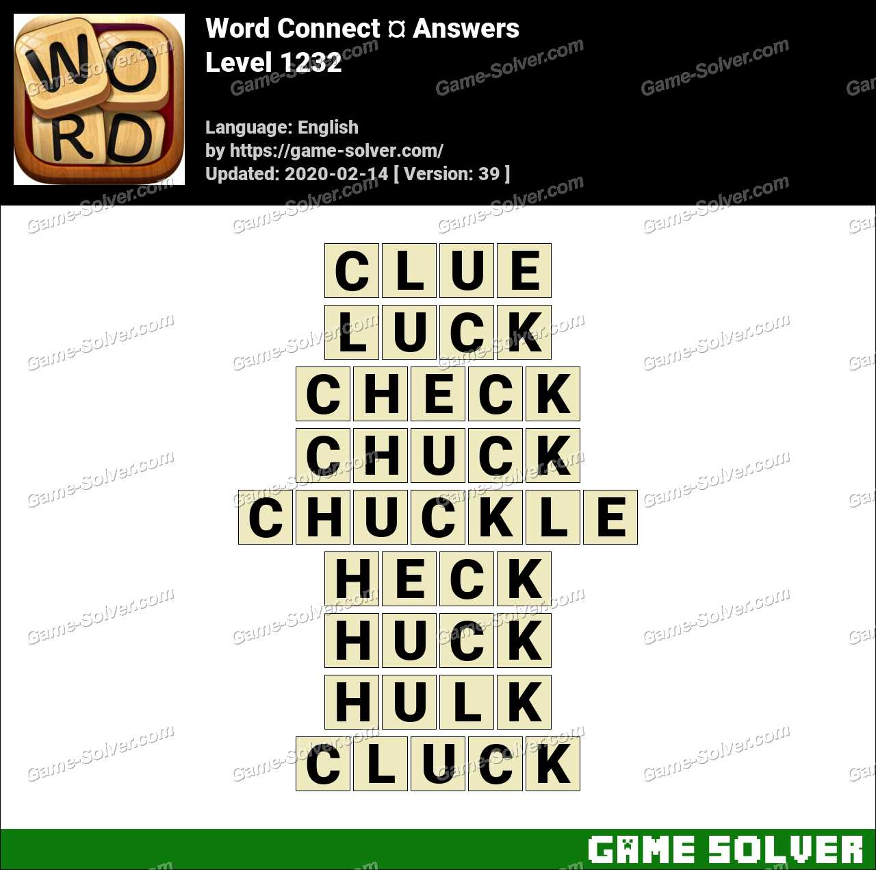 Word Connect Level 1232 Answers