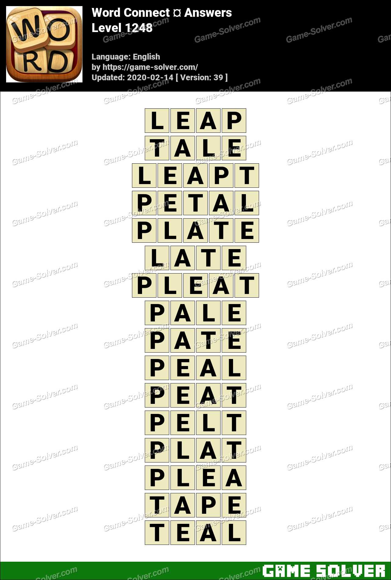 Word Connect Level 1248 Answers