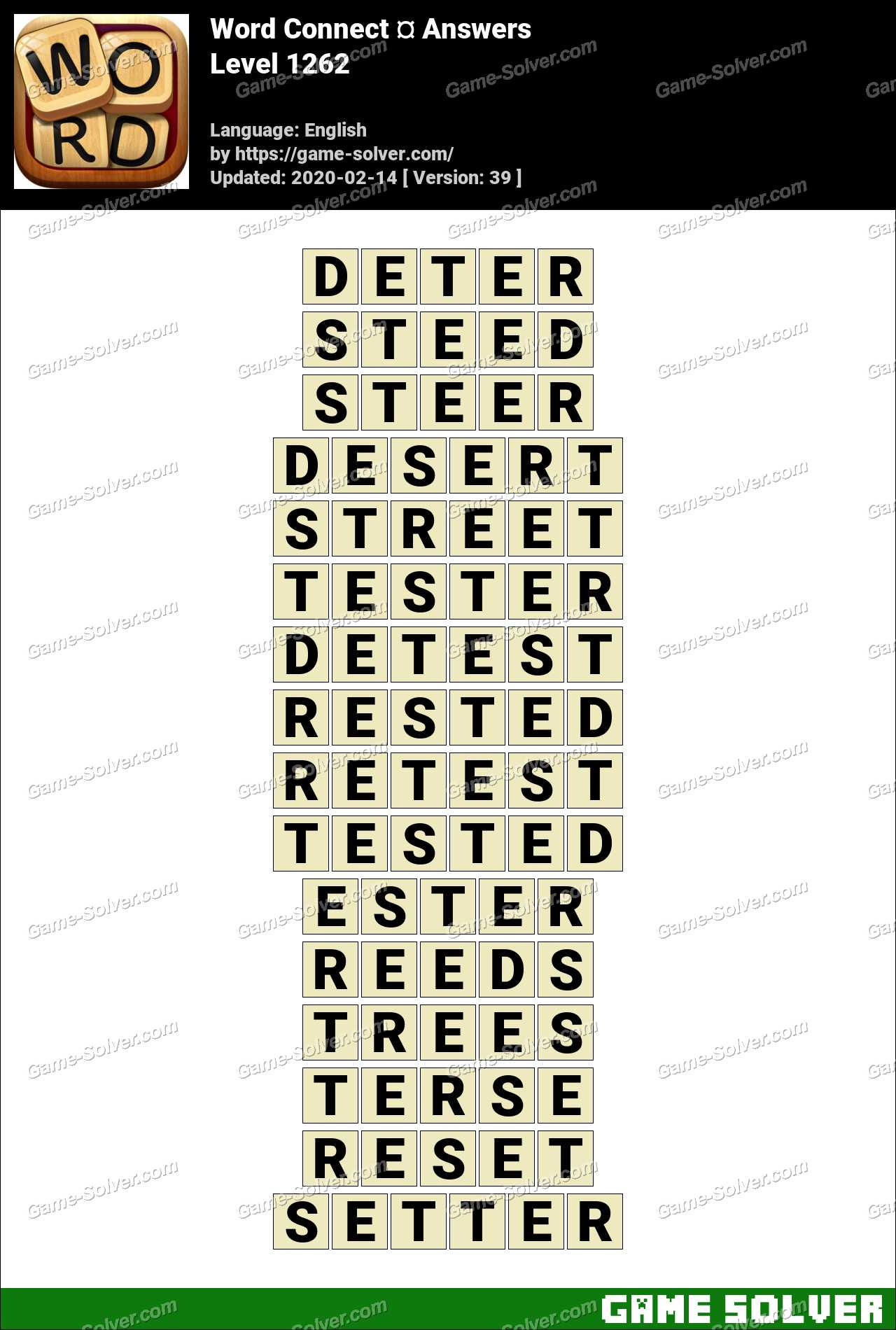 Word Connect Level 1262 Answers