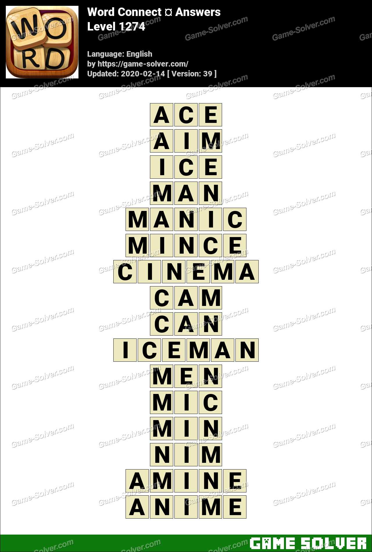 Word Connect Level 1274 Answers