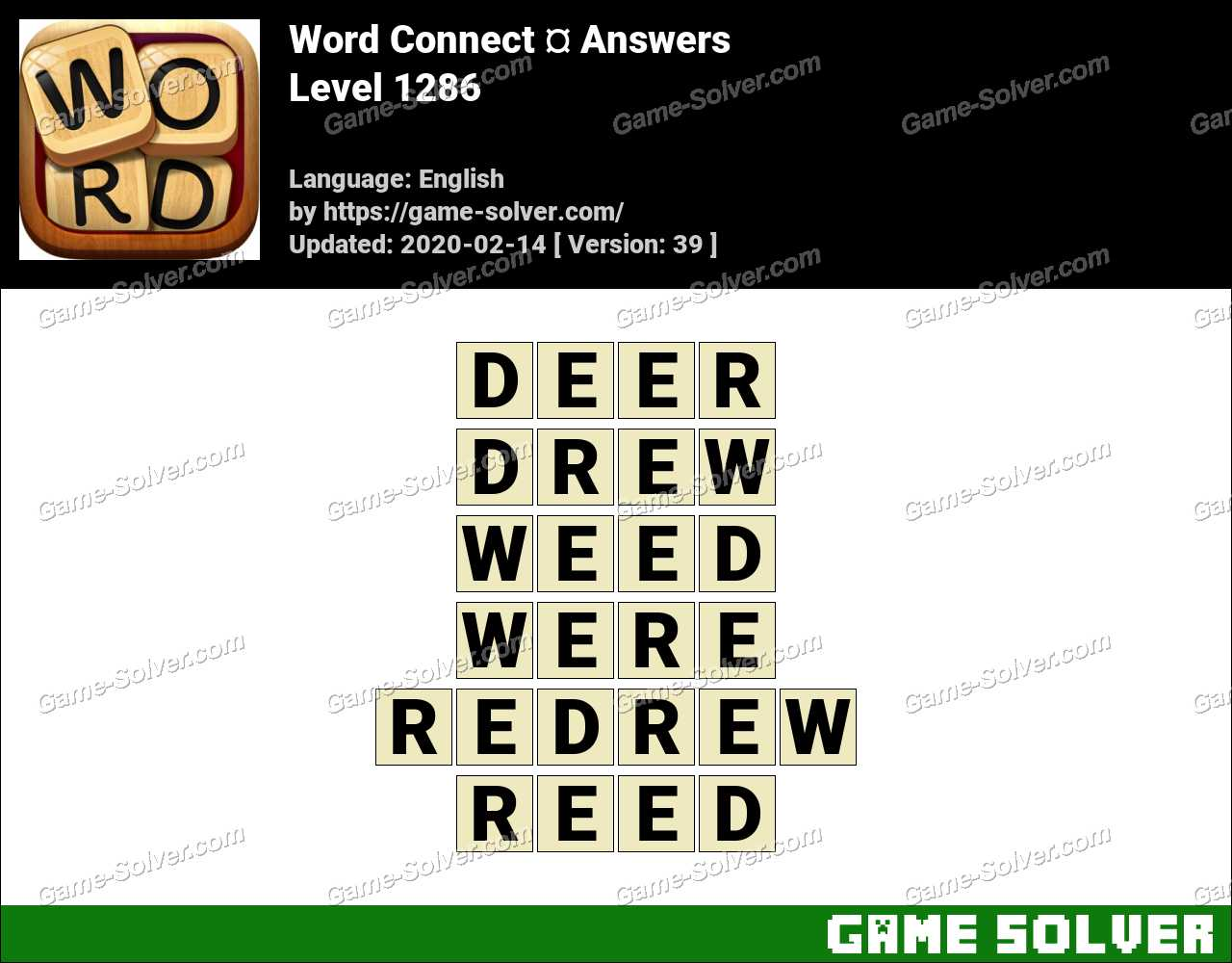 Word Connect Level 1286 Answers