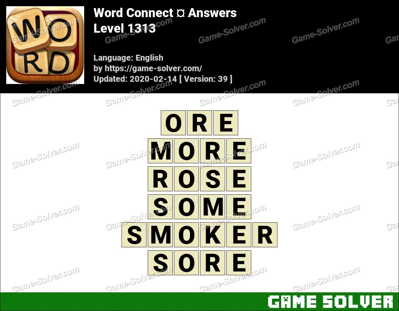 Word Connect Level 1313 Answers