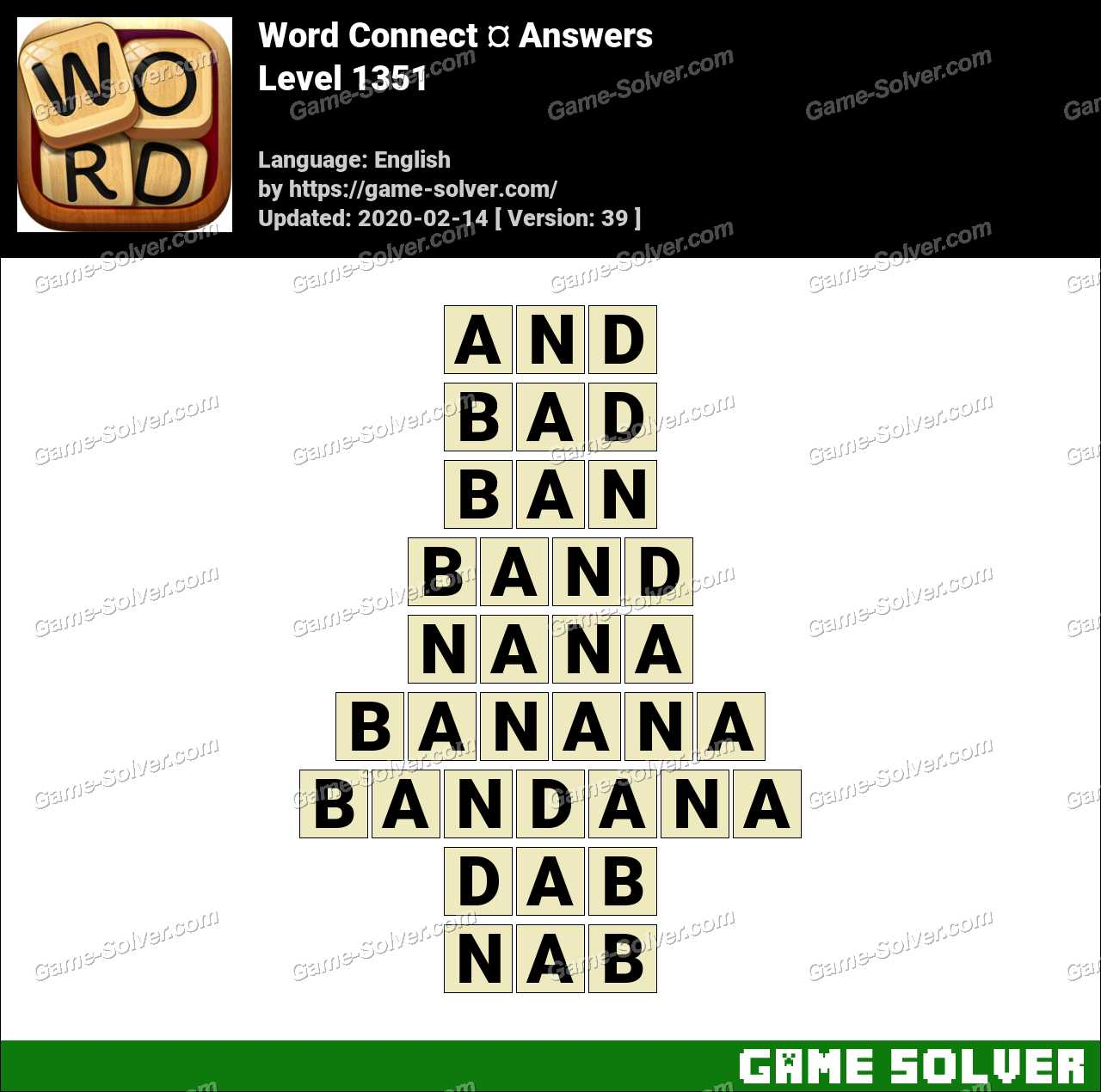 Word Connect Level 1351 Answers
