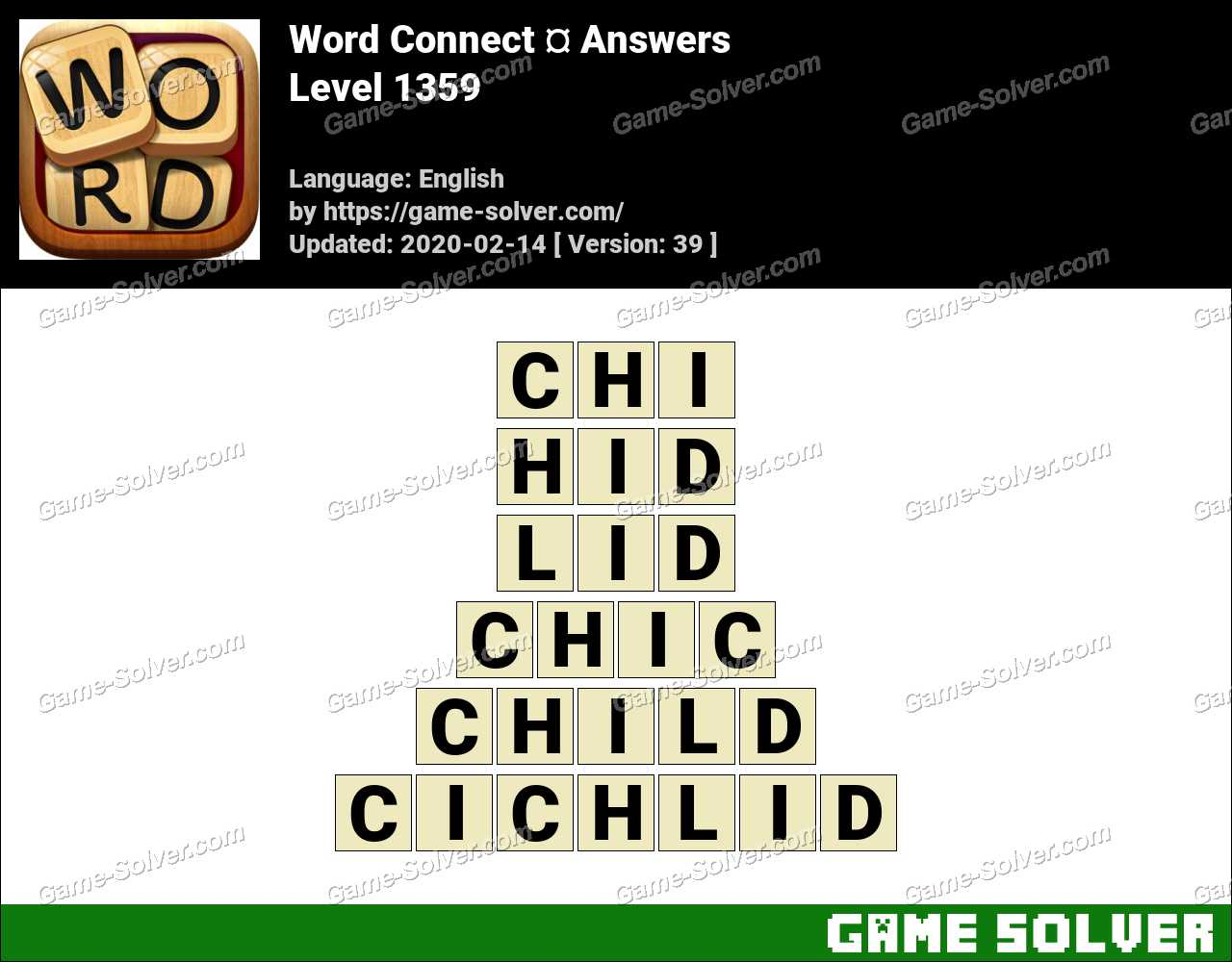 Word Connect Level 1359 Answers