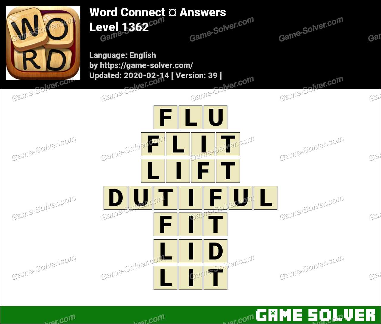 Word Connect Level 1362 Answers