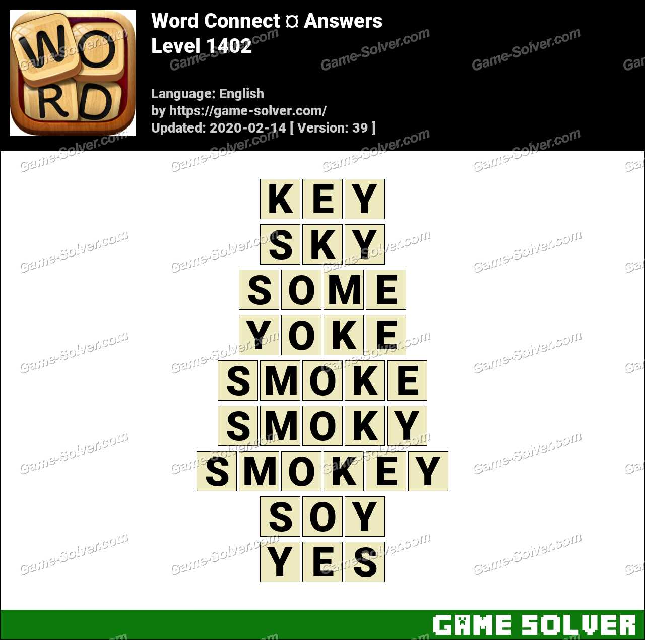 Word Connect Level 1402 Answers