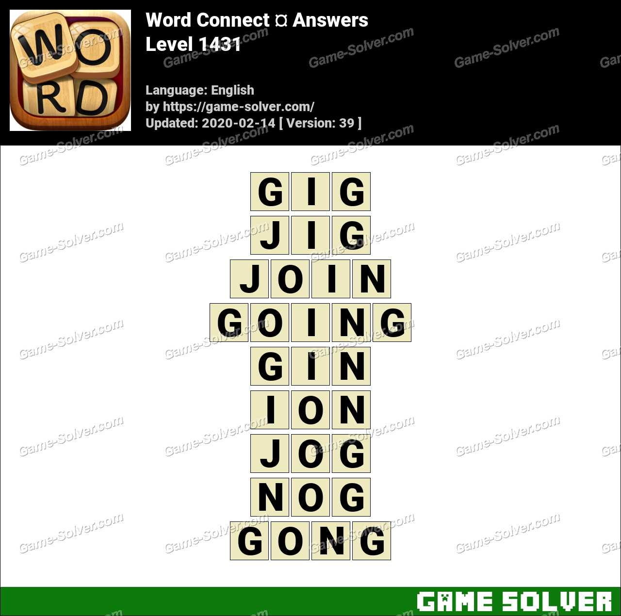 Word Connect Level 1431 Answers