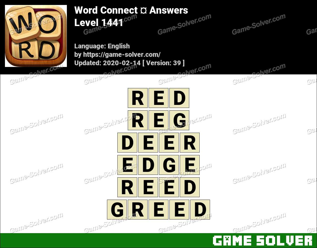 Word Connect Level 1441 Answers