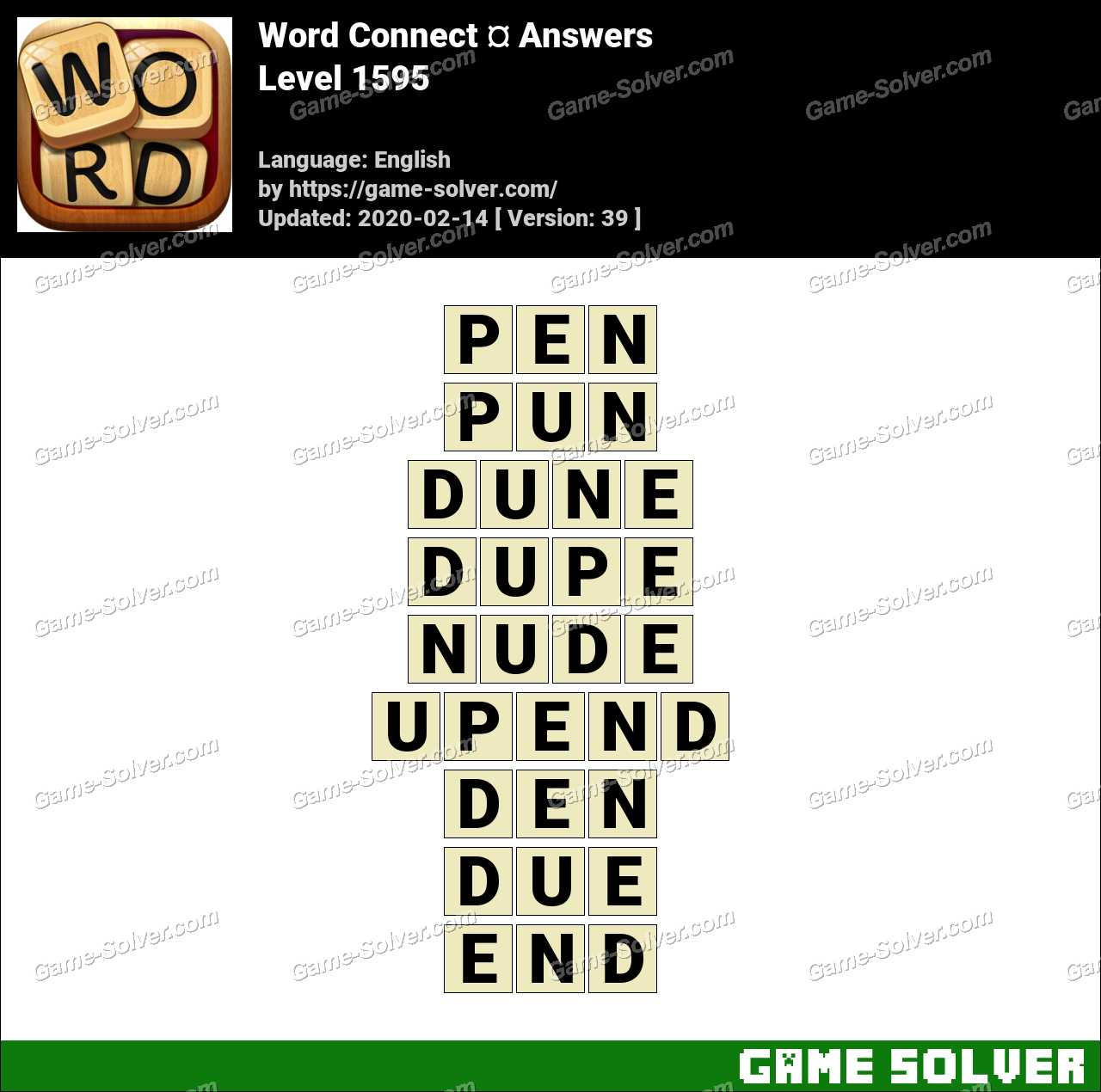 Word Connect Level 1595 Answers
