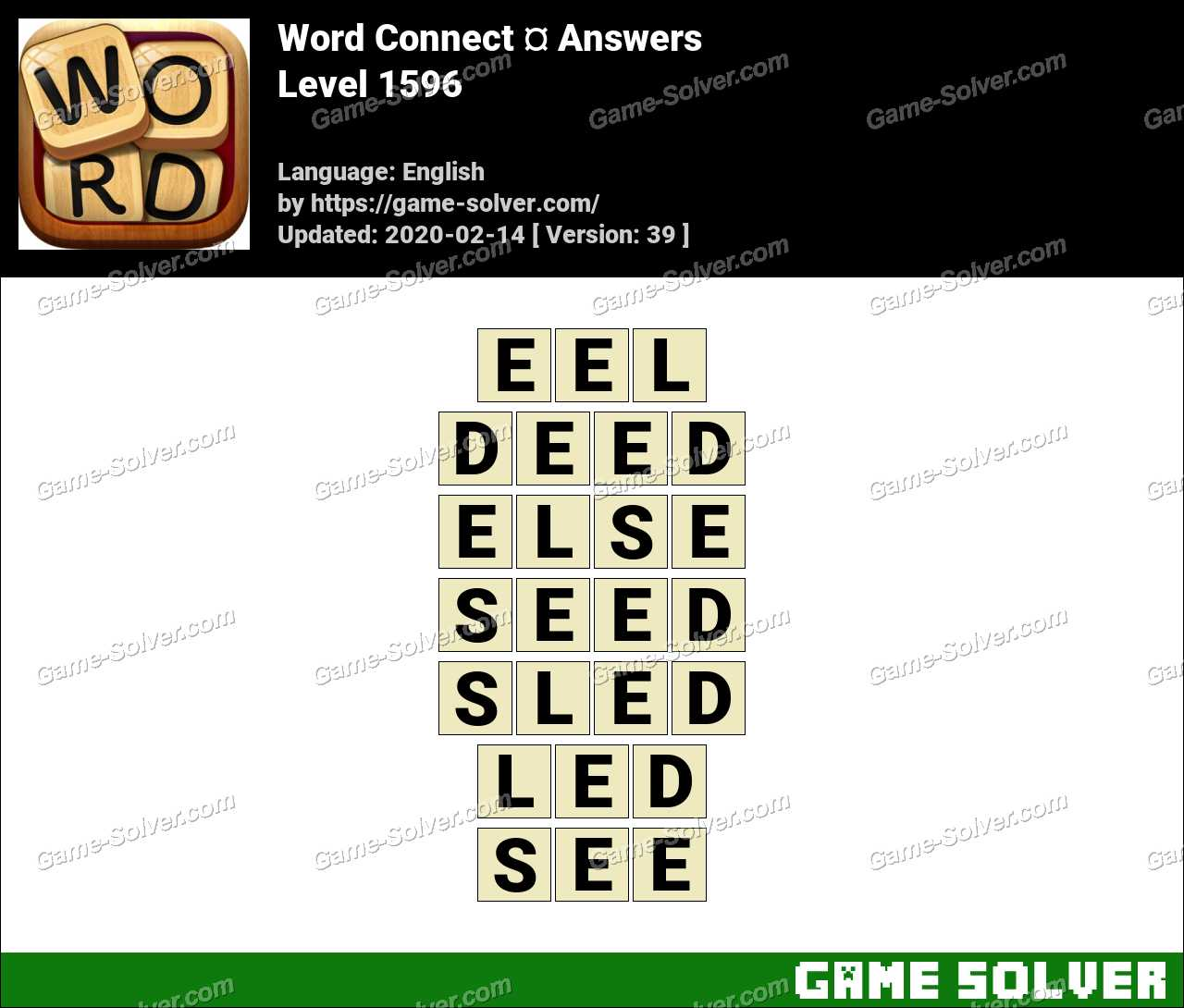 Word Connect Level 1596 Answers