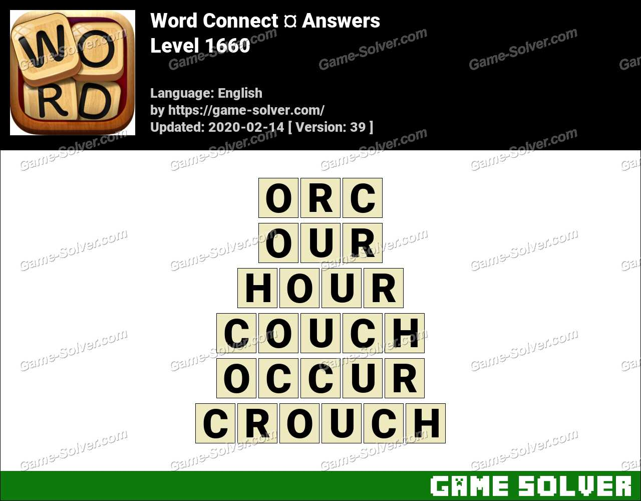 Word Connect Level 1660 Answers