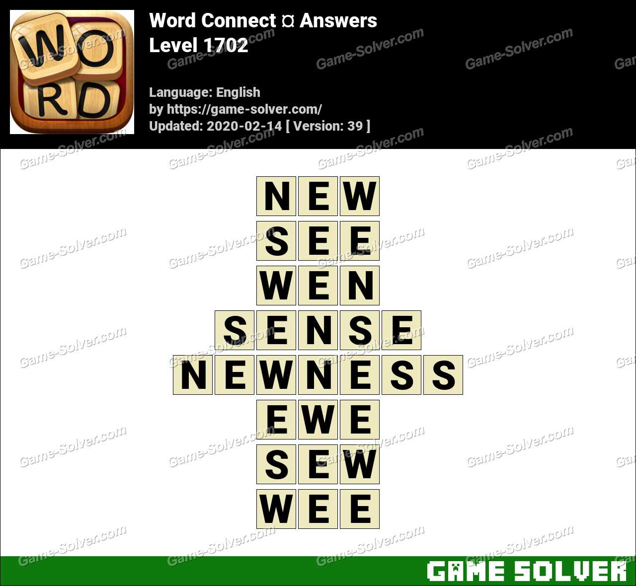 Word Connect Level 1702 Answers