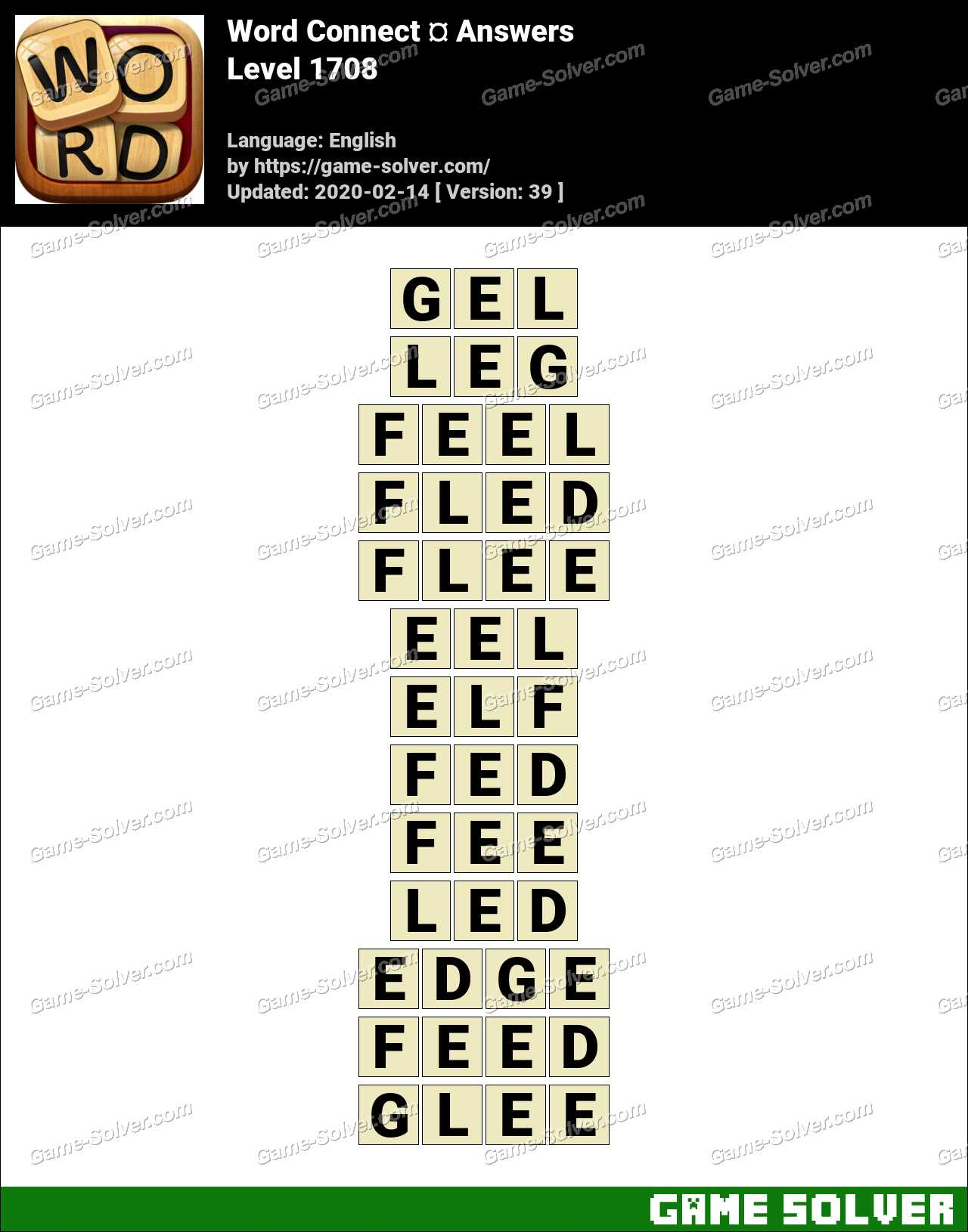 Word Connect Level 1708 Answers