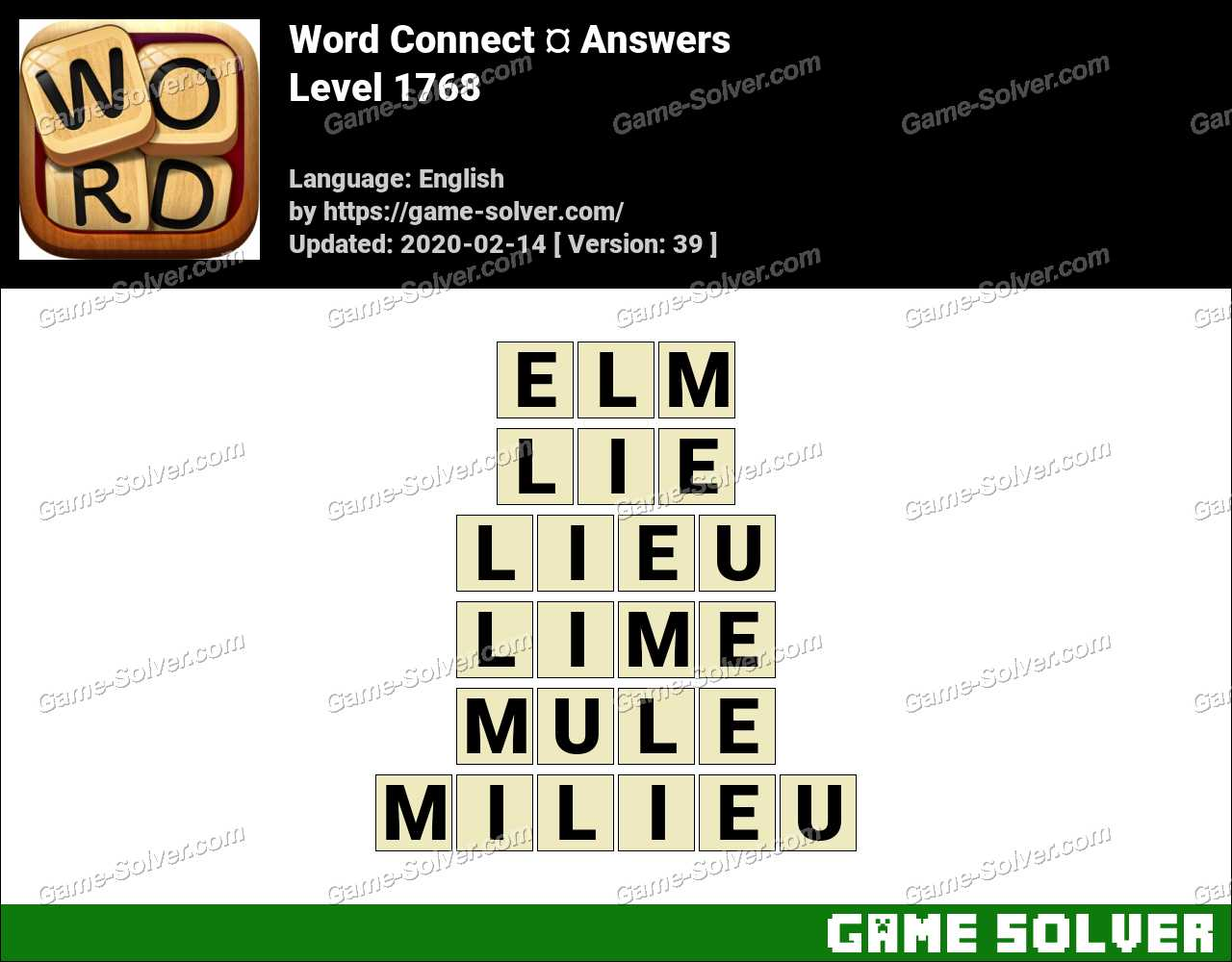 Word Connect Level 1768 Answers
