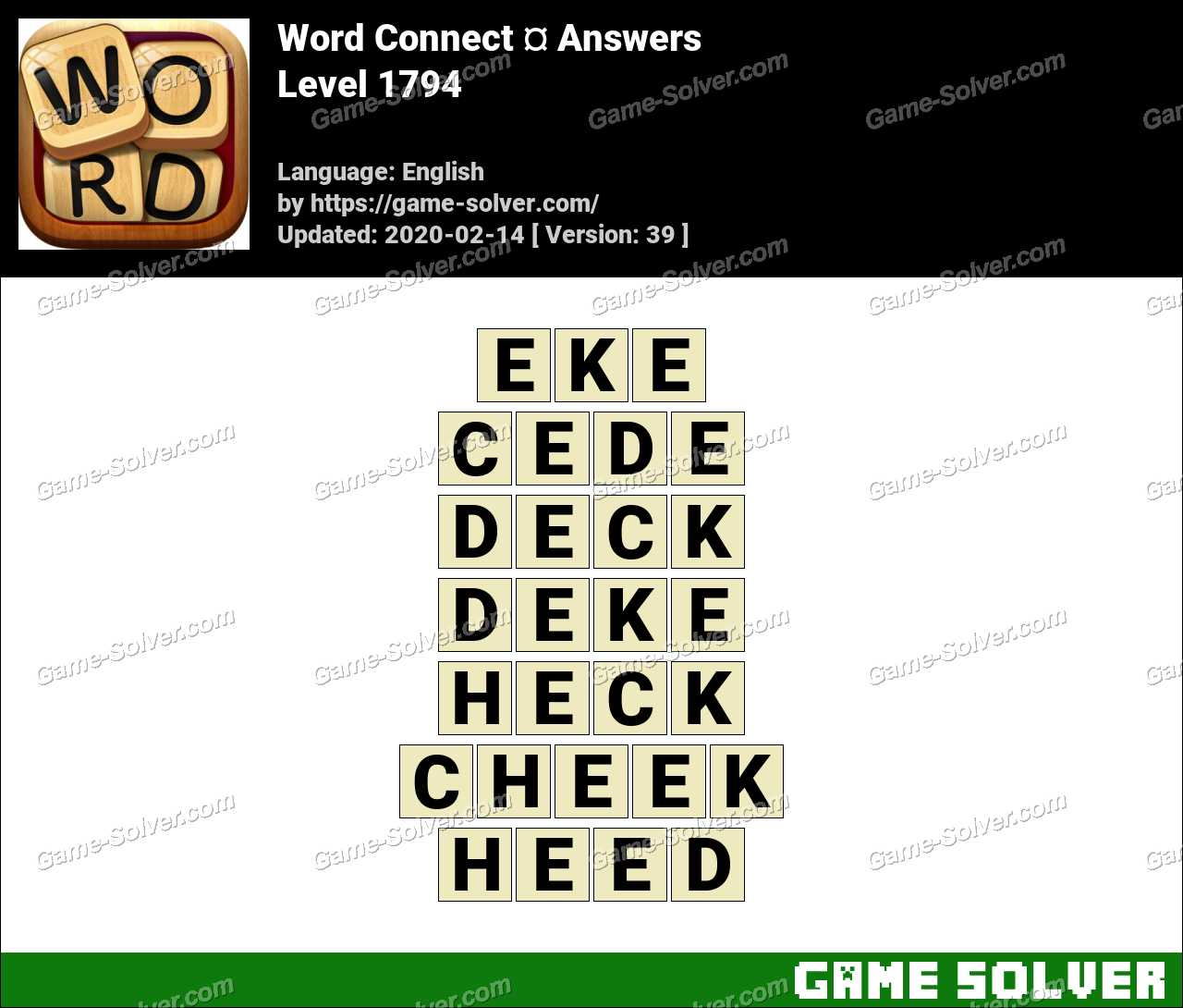 Word Connect Level 1794 Answers